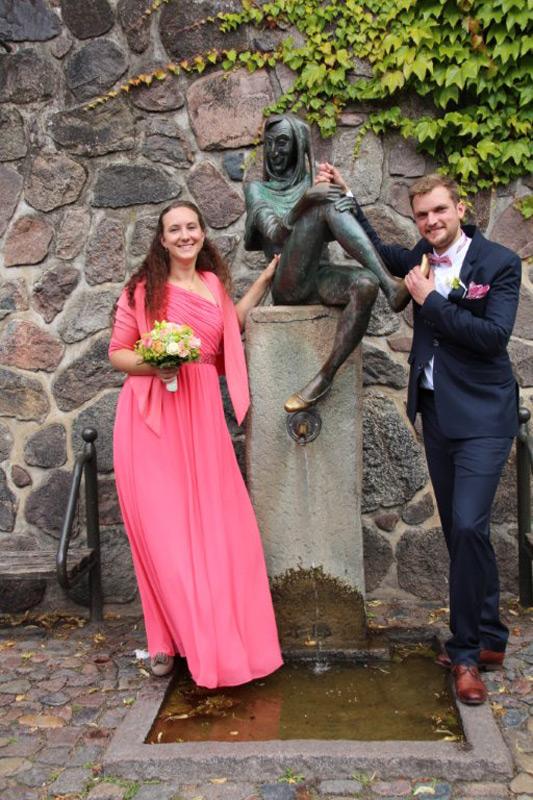 Brautpaar beim Till in Mölln