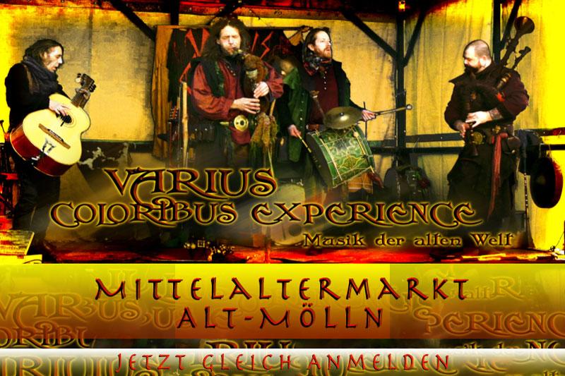 Mittelaltermarkt mit zahlreichen Attraktionen in Alt-Mölln