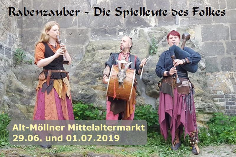 Am 29./30.06.2019 findet der Alt-Möllner Mittelaltermarkt statt